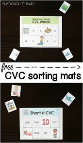 N Cvc Words by Free Cvc Words Picture Sort Playdough To Plato