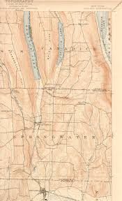 Finger Lakes New York Map by Hemlock Lake Research James Heaney