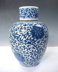 Chinese Blue And White Vase Antique Chinese Blue And White Porcelain Vase With Lid Item 1245908