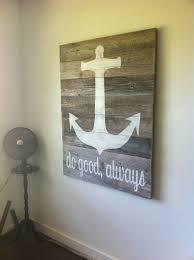 weathered wood large anchor quote shop coastal etsy