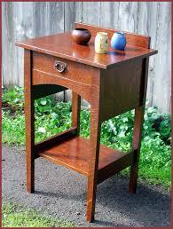 Arts And Crafts Nightstand Voorhees Craftsman Mission Oak Furniture Nightstands