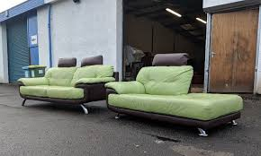 Dfs Leather Sofas Green Brown Dfs Leather Sofas Delivery Available In East End
