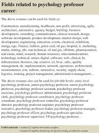 Sample Resume For Assistant Professor by Top 8 Psychology Professor Resume Samples