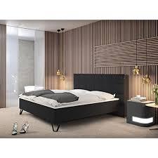 Schlafzimmer In Anthrazit Sam Design Boxspringbett Mit Neo Stoff Bezug In Anthrazit