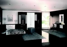 Black White Bedroom Decorating Ideas Very Sleek Black And White Bedroom With Glossy Floor And Closet Also