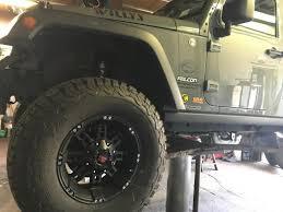 jeep wrangler jacked up matte black havok off road wrangler h 103 matte black wheels j108351 07 18