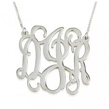 Monogrammed Necklace Sterling Silver Split Chain Monogram Necklace U2013 Ace U0026 Ivy