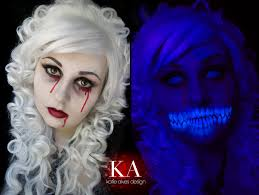 black light ghost makeup with tutorial by katiealves on deviantart