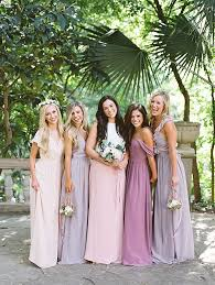 mix match bridesmaid dresses bridal style revelry affordable colourful mix match