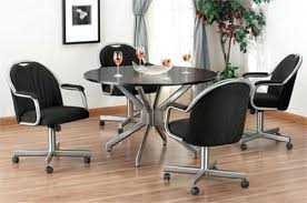 dining room chair on wheels casters for dining room chairs swivel