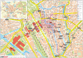 Map Of Netherlands Large Detailed Tourist Map Of Utrecht
