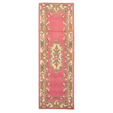 Chinese Aubusson Rugs Carpet Runner 67cm X 210cm Wool Chinese Handcrafted Aubusson Rugs