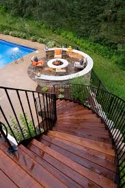 fire pit ideas patio traditional with fire pit concrete pool deck
