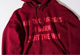 may the bridges i burn light the way vetements vetements hoodie oversized kanye mens may the bridges i burn light
