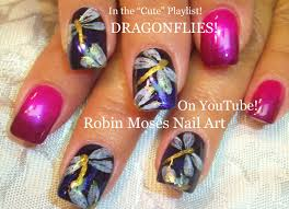 easy diy dragonfly nails how to spring nail art design tutorial