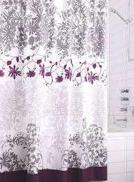 Purple Bathroom Curtains Embroidered Floral Vine Shower Curtain Shower Curtains Simons