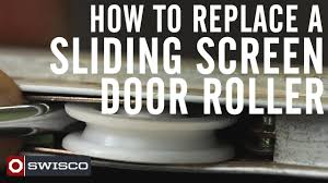sliding glass doors repair of rollers how to replace a sliding screen door roller 1080p youtube