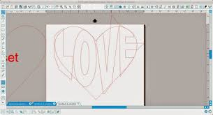silhouette studio word art tutorial shape text heart