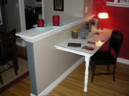 clever half wall room divider with diy small suspended table pony
