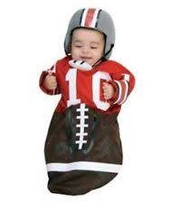 Newborn 0 3 Months Halloween Costumes Football Bunting Newborn Baby Sports Fan Infant Halloween Costume