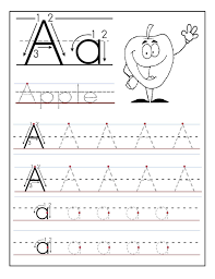 tracing the letter a free printable activity shelter alphabet