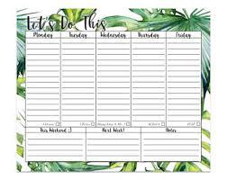 Weekly Desk Pad Weekly Desk Pad Floral Notepad Mouse Pad Desktop Planner
