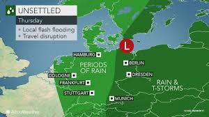 Hamburg Germany Map by Flood Threat To Persist Across Germany Into Thursday