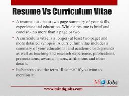 Cv Curriculum Vitae Vs Resume Download Resume Vs Cover Letter Haadyaooverbayresort Com