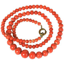 coral bead necklace images Antique coral beads for sale at 1stdibs jpg