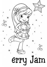 strawberry shortcake cherry jam coloring page free printable