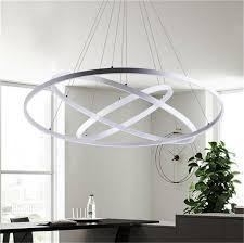 Ceiling Pendant Light Fixtures Modern Circular Ring Pendant Lights 3 2 1 Circle Rings Acrylic