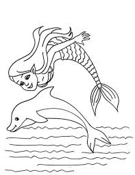 mermaid jumping dolphin coloring pages bulk color