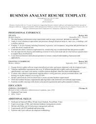 Credit Analyst Resume Objective Business Analyst Resume Templates Samples U2013 Topshoppingnetwork Com