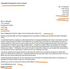 resignation letter format best 10 immediate resignation letter no