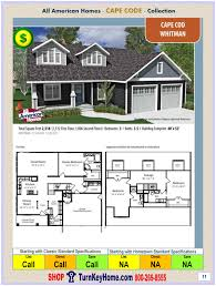 floor plans modular homes cape cod modular home prices from all american homes whitman plan