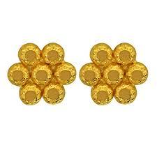 gold stud earrings joyalukkas 22kt 916 yellow gold stud earrings for women