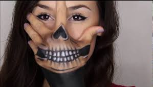 halloween skeleton face painting skull hand paint youtube