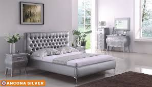 Black And Silver Bed Set Plush Silver Bedroom Sets Bedroom Ideas