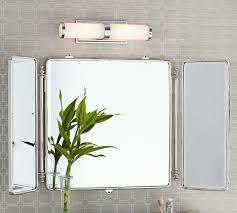 tri fold mirror bathroom cabinet vintage tri fold mirror pottery barn ikea bathroom wall cabinet