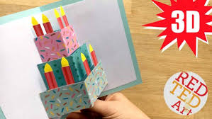 easy homemade birthday cards easy pop up birthday card diy red ted