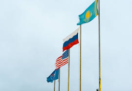 Kazakhstan Flag Flags Of The U S Russia Roscosmos And Kazakhstan Nasa