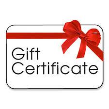 gift certificates gift certificate derossi global