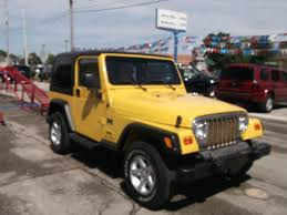jeep rubicon yellow larry allen motor car company inc