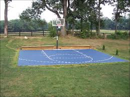 typical backyard basketball court size dimensions half home love pro