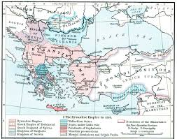 Byzantine Empire Map The Byzantine Empire Or Eastern Roman Empire 1265 Full Size
