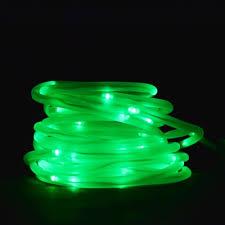 50 green led solar powered garden stake rope string light w
