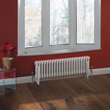 traditional 22 x 3 column radiator cast iron style white 11 8