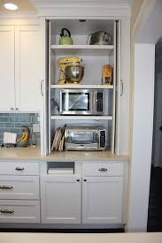 kitchen appliance storage cabinet microwave and toaster oven would to the