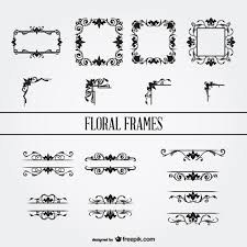 floral ornament frames set vector free