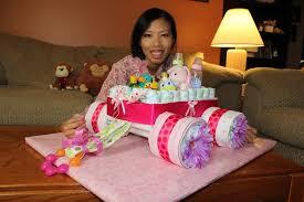 Diaper Cake Bathtub Diaper Cake Wagon How To Make Youtube